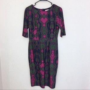 Jude Connally Monique Snake Print Dress S NWT $198